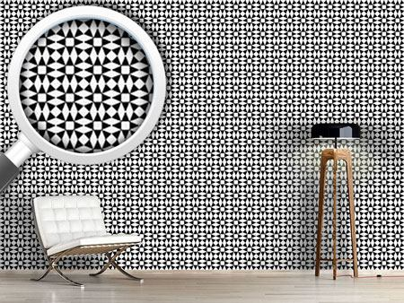 Pattern Wallpaper Black Diamond Illusion