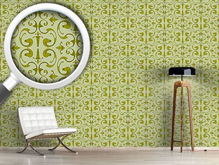 Pattern Wallpaper Baroque Volutes