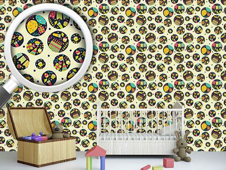 Pattern Wallpaper Party Circles