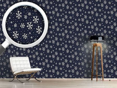 Pattern Wallpaper Snowy Night