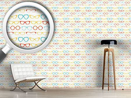 Pattern Wallpaper Hipster Glasses