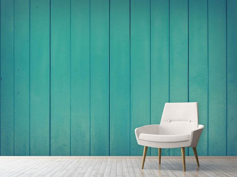 Photo Wallpaper Lacquered wood panels