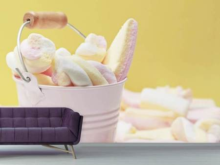 Photo Wallpaper Marshmallow in the bucket
