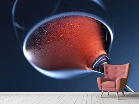 Photo Wallpaper A glass of rose