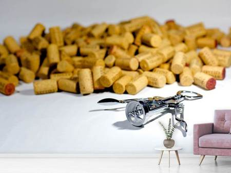 Photo Wallpaper Wine corks collection