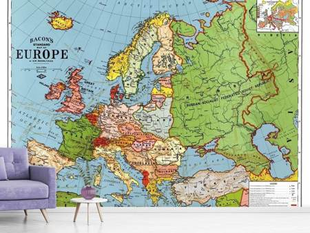Photo Wallpaper Map Europe