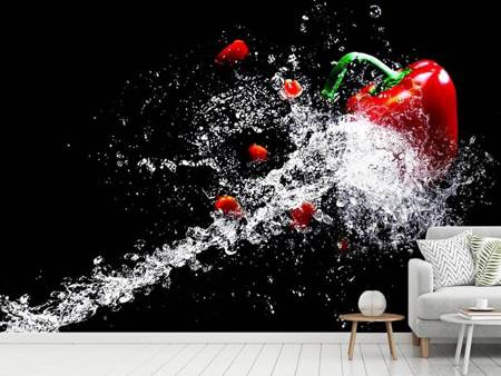 Photo Wallpaper Paprika Splash XL