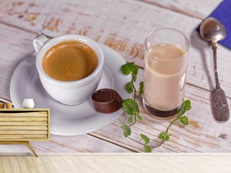 Photo Wallpaper Favorite drink coffee