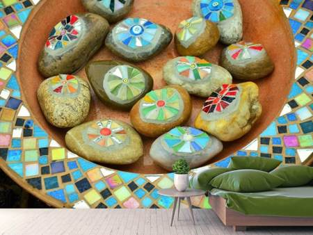 Photo Wallpaper Painted stones