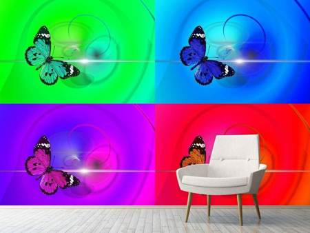 Photo Wallpaper Pop Art Colorful Butterfly