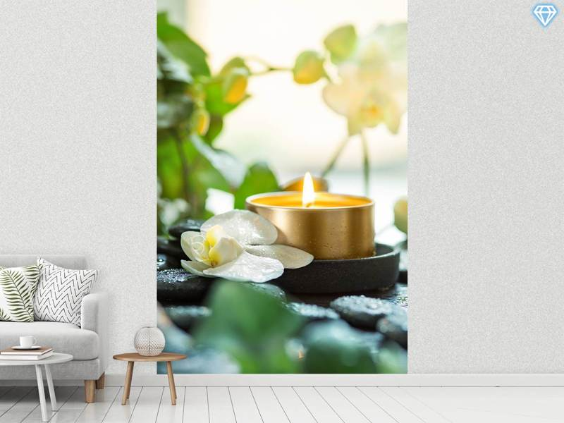 Photo Wallpaper Zen Orchid And Candle