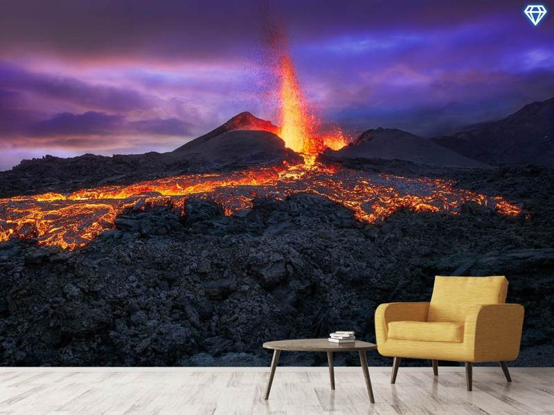 Photo Wallpaper Fire At Blue Hour