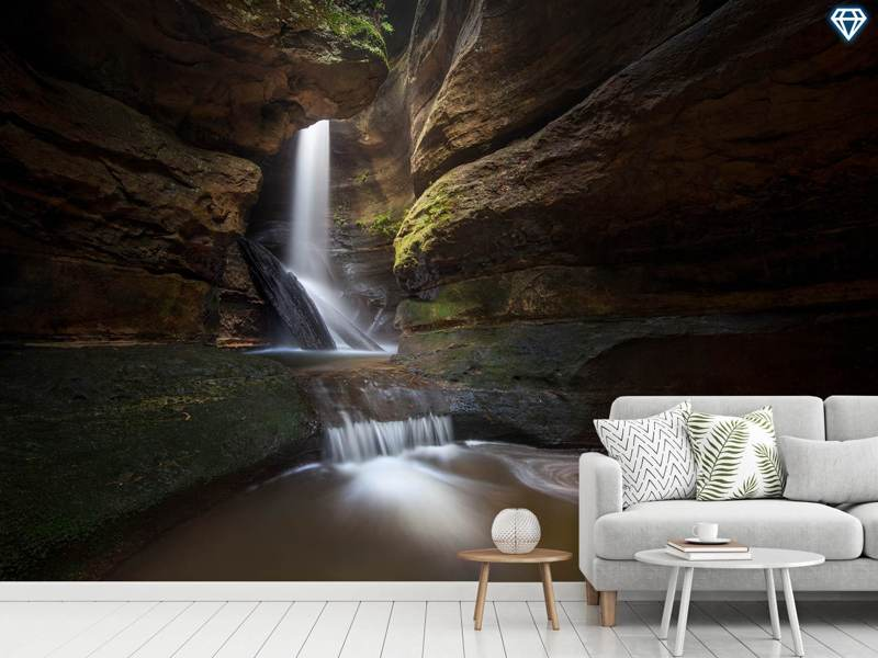Photo Wallpaper Waterfalls Hidden In A Canyon