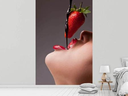 Photo Wallpaper Strawberry Kiss