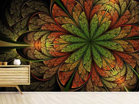 Photo Wallpaper Abstract Floral Pattern