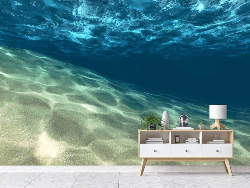 Calming effect under the sea wall mural