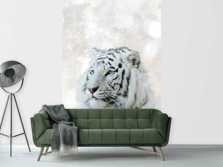 Photo Wallpaper Tiger Painting
