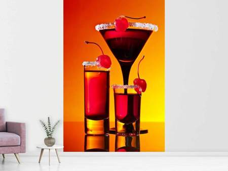 Photo Wallpaper Cherry cocktail