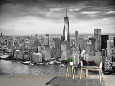Photo Wallpaper Skyline Black And White Photography New York
